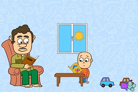 انیمیشن دردونه ها، تقلید کودکان