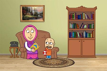 انیمیشن دردونه ها، تکلم کودک