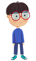 پسر عینکی مدرسه (پایه دوم)